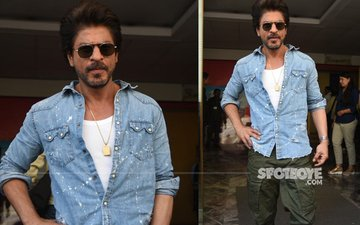 SRK Looks Dapper But In Pain At The Trailer Launch Of Raees