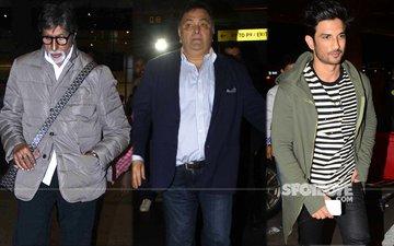 AIRPORT SPOTTING: Amitabh Bachchan, Rishi Kapoor & Sushant Singh Rajput