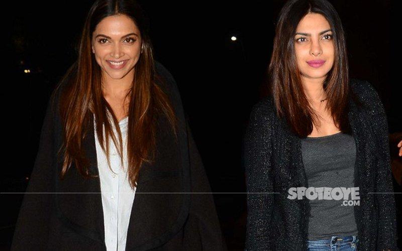 Deepika & Priyanka Snapped At The Mumbai Airport As They Board The Same Flight To The USA