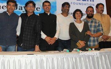 Aamir Khan And Kiran Rao Join CM Devendra Fadnavis To Announce The Paani Foundation Awards