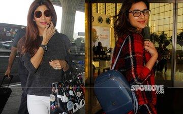 Airport Spotting: Shilpa Shetty, Parineeti Chopra & Co. Slay It In Style!