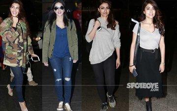 Jacqueline, Sunny Leone, Soha, Shriya Snapped At The Airport