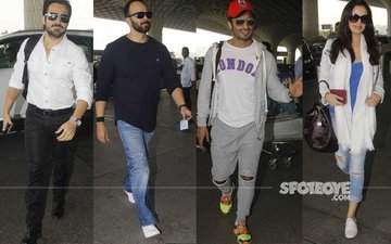 AIRPORT SPOTTING: Emraan Hashmi, Rohit Shetty, Vidyut Jammwal & Evelyn Sharma Travel In Style
