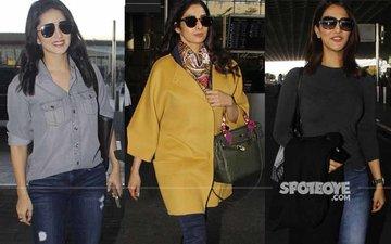 AIRPORT SPOTTING: Sunny Leone, Sridevi, Vaani Kapoor Keep It Stylish!