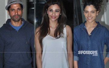 Farhan Akhtar, Daisy Shah, Saiyami Kher At Raees Screening!