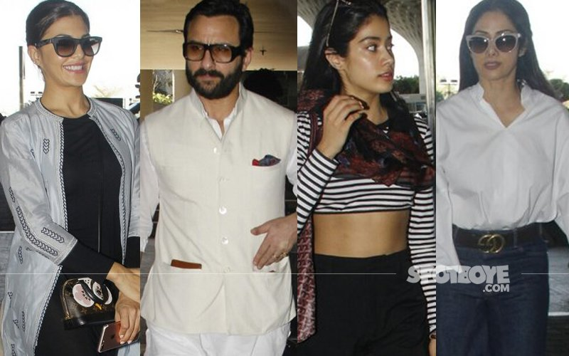 AIRPORT SPOTTING: Jacqueline Fernandez, Saif Ali Khan, Jhanvi Kapoor, Sridevi's Travel Diaries!