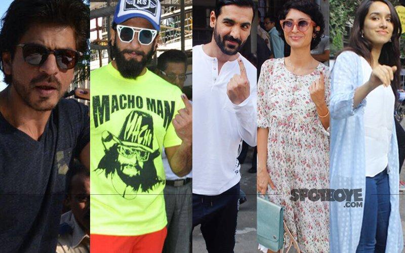 BMC Elections 2017: Shah Rukh, Ranveer, John, Kiran, Shraddha Cast Their Votes