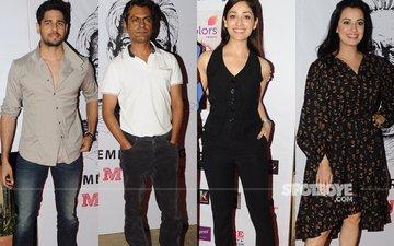 Sidharth Malhotra, Nawazuddin Siddiqui, Yami Gautam, Dia Mirza At A Theatre Festival Launch