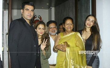 Arbaaz Khan Joins Malaika Arora For Her Mother's Birthday Celebration