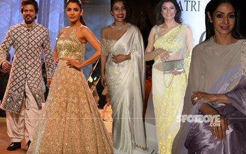 IN PICS: Shah Rukh, Anushka, Kajol, Sushmita, Sridevi At The Mijwan 2017 Fashion Show