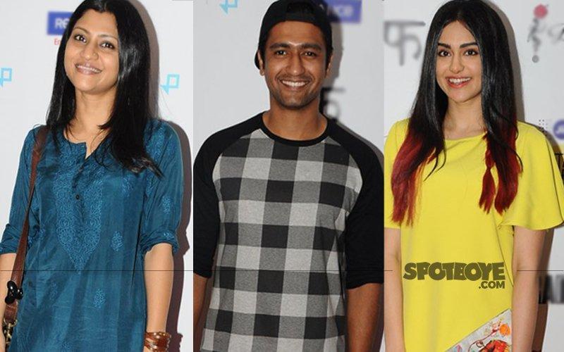 Konkona Sen Sharma, Vicky Kaushal, Adah Khan Watch Rajkummar Rao's Trapped