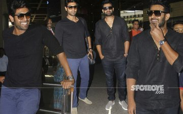 Rana Daggubati & Prabhas Arrive In Mumbai For Baahubali 2 Trailer Launch