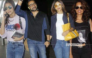 AIRPORT SPOTTING: Anushka Sharma, Shilpa & Raj Kundra, Esha Gupta Keep It Stylish