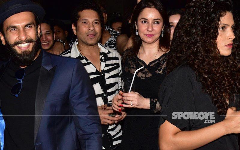 Ranveer Singh, Saiyami Kher At Sachin Tendulkar's Movie's Wrap up Party