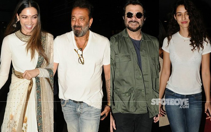 AIRPORT SPOTTING: Deepika Padukone Dolls Up, Sanjay Dutt, Anil Kapoor, Disha Patani Keep It Casual