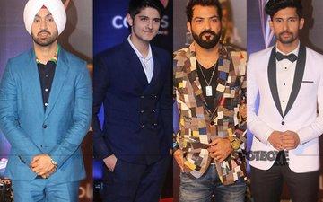 Diljit Dosanjh, Rohan Mehra, Manu Punjabi, Ravi Dubey Grace The Red Carpet Of Colors Golden Petals Award 2017