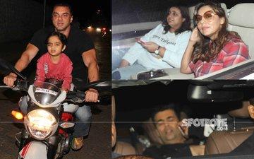 SPOTTED: Sohail Khan Takes His Son For A Bike Ride, Gauri Khan-Karan Johar Enjoy At Ranbir's New Abode