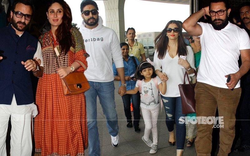 SPOTTED: Kareena Dines With Saif, Aishwarya-Abhishek Leave For Dubai, Aamir Celebrates Wedding Anniversary In Panchgani
