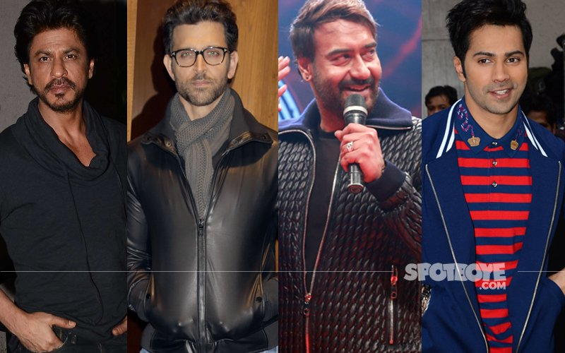 SPOTTED: This Is What Shah Rukh, Hrithik, Ajay & Varun Did Last Night