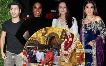 Varun-Sunny Leone Go Gymming, Preity-Raveena Party, Ekta Lands Up In Shirdi