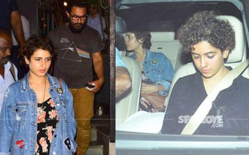 Aamir Bonds With Dangal Daughters Fatima & Sanya Over Dinner