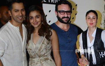 Alia Bhatt, Varun Dhawan, Kareena Kapoor, Saif Ali Khan Paint The Town Red!