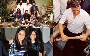 SPOTTED: Sanjay Dutt Meets Golmaal Gang, Akshay Kumar Digs A Toilet Pit, Shraddha Kapoor Bonds With Ekta Kapoor