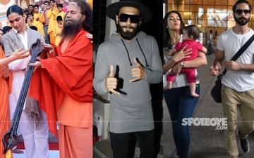 Deepika Padukone Offers Prayers, Ranveer Singh Keeps It Cool, Shahid-Mira-Misha Look Adorable