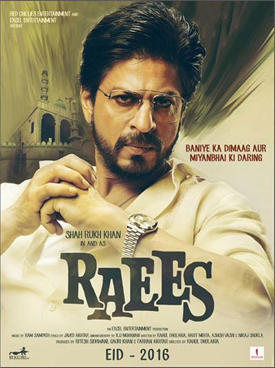 shah rukh khan in and as raees