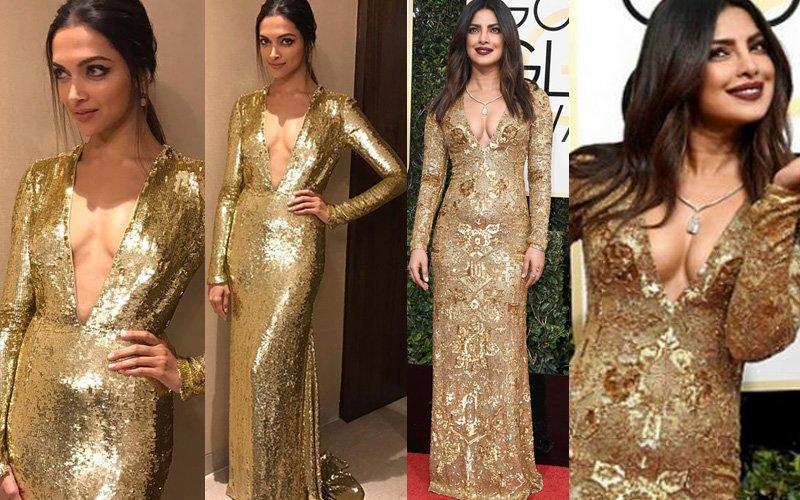 Who Wore The 'Gold' Better? Deepika Padukone Or Priyanka Chopra?