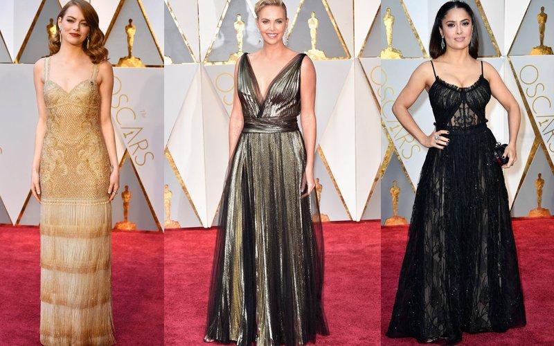HOT OR NOT: Emma Stone, Charlize Theron & Salma Hayek Stun At The Oscars 2017