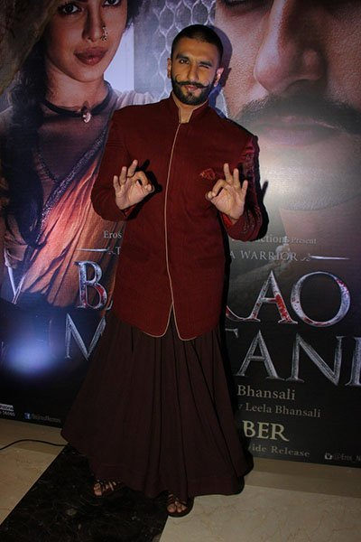 ranveer singh wore a skirt with a gher