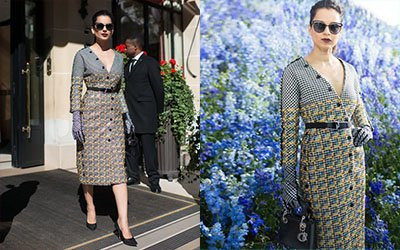 kangana ranaut in fierce dior outfit at the show