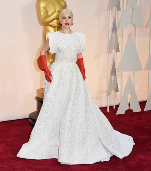 lady gaga in azzedine alaa gown with gloves