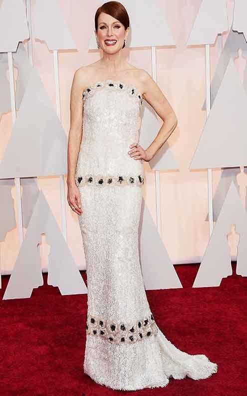 best actress oscar winner julianne moore in chanel custom look