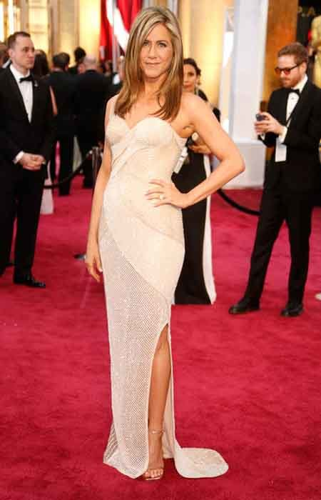 jennifer atelier versace gown with the slit
