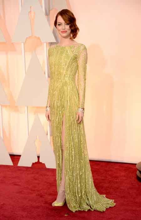 emma stone also in an elie saab look