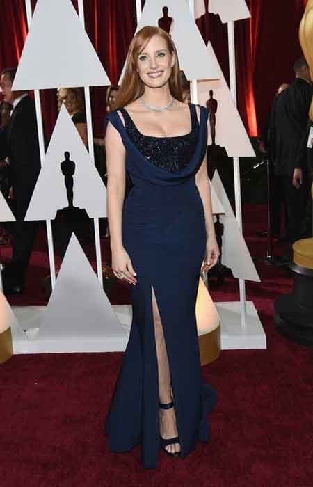 jessica chastain custom givenchy by riccardo tisci gown