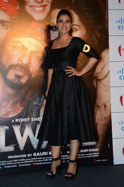 kajol devgan at dilwale trailer launch