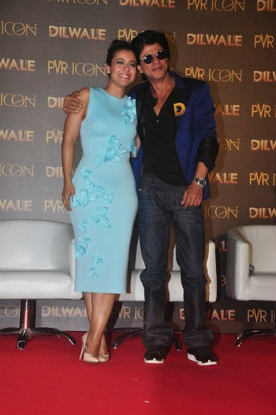 kajol devgan in gauri and nainika number at dilwale promotions