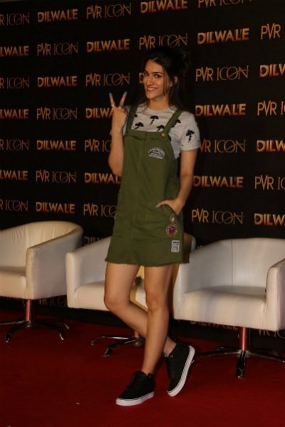 kriti sanon at dilwale promotions