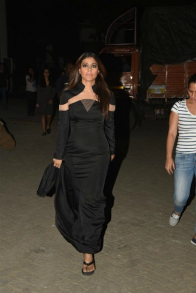 kajol devgan in an gown at dilwale promotions