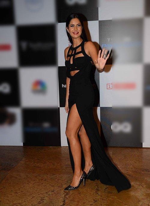 katrina kaif in philipp plein slit gown