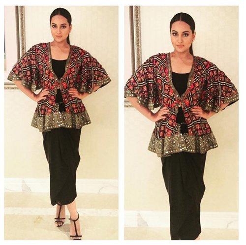sonakshi sinha wore arpita mehta jacket