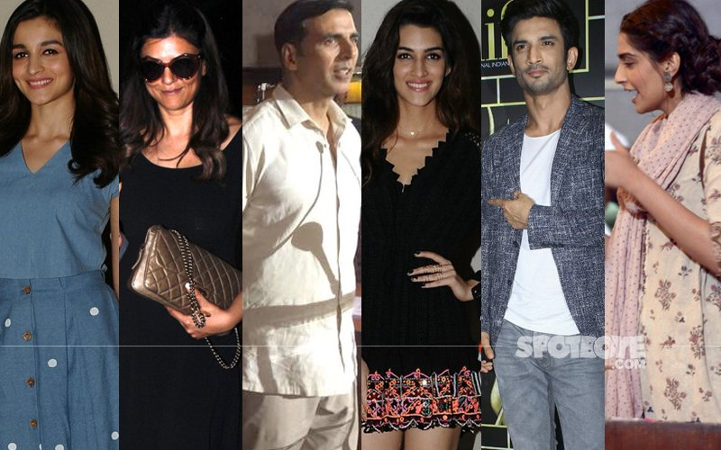 STUNNER OR BUMMER: Alia Bhatt, Sushmita Sen, Akshay Kumar, Kriti Sanon, Sushant Singh Rajput Or Sonam Kapoor?