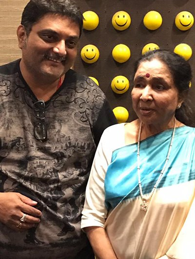 asha bhosle in studio