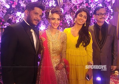 tv actress dimple jhagiani and diamond merchant husband sunny arora wedding pics