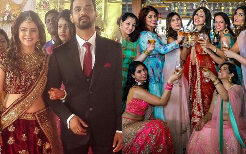 TV Stars Get Knotty: Rucha Gujarathi Weds Vishal, Kishwer Merchant Poses With Bridesmaids