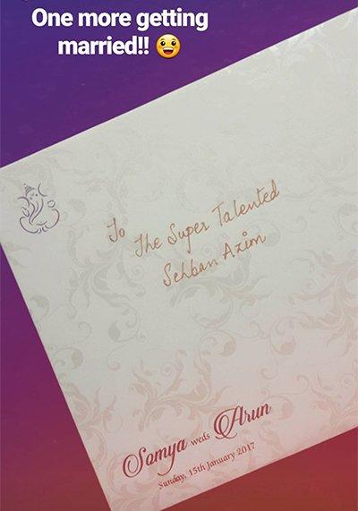 samya weds arun wedding cards