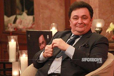 rishi kapoor at his book launch